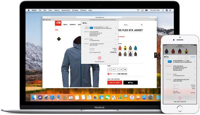 Apple Pay na komputerze z MacOS