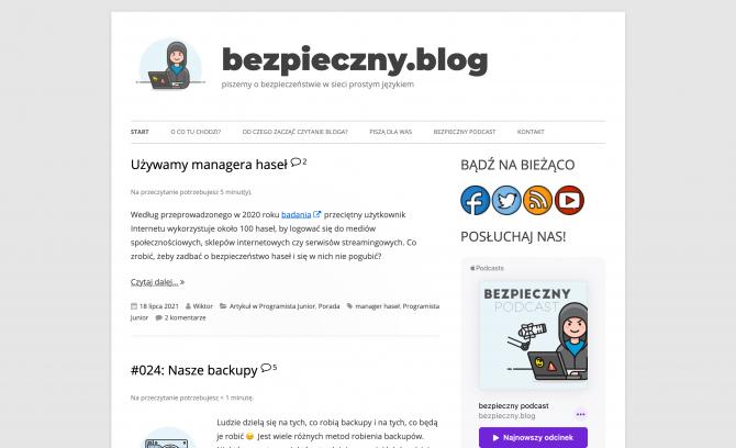 Bezpieczny Blog