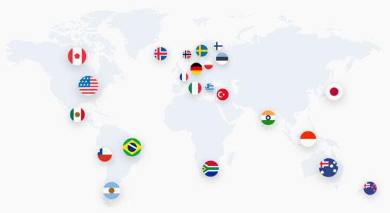 Serwery VPN na Świecie