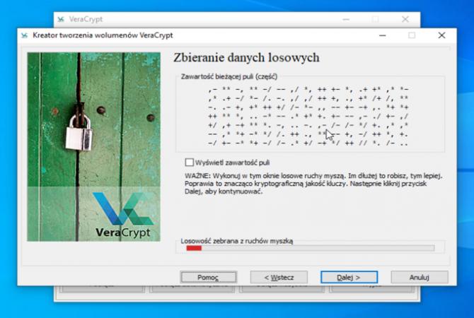 Szyfrowanie dysku z VeraCrypt: krok 11