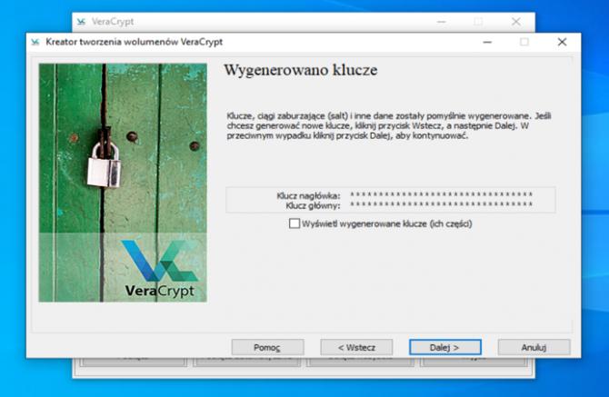 Szyfrowanie dysku z VeraCrypt: krok 12