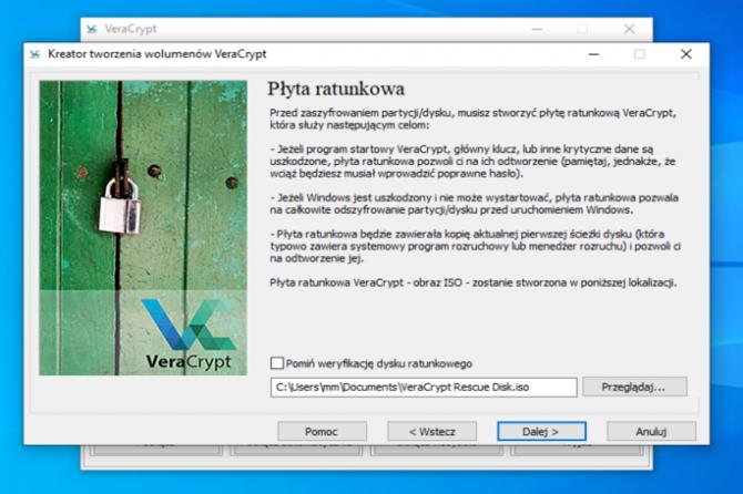 Szyfrowanie dysku z VeraCrypt: krok 13