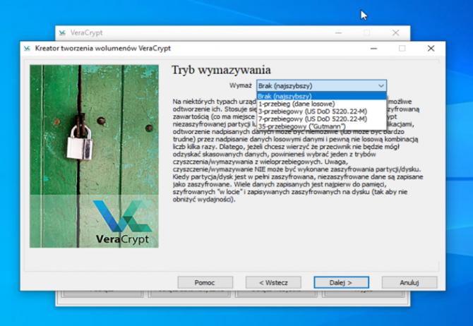 Szyfrowanie dysku z VeraCrypt: krok 14