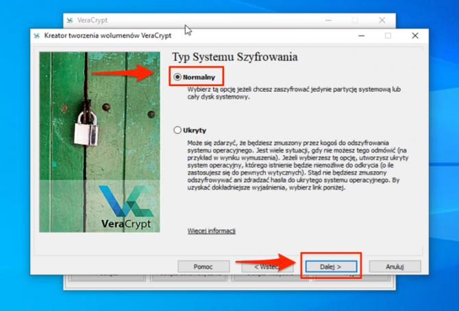 Szyfrowanie dysku z VeraCrypt: krok 4
