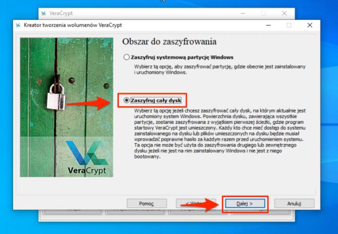 Szyfrowanie dysku z VeraCrypt: krok 5