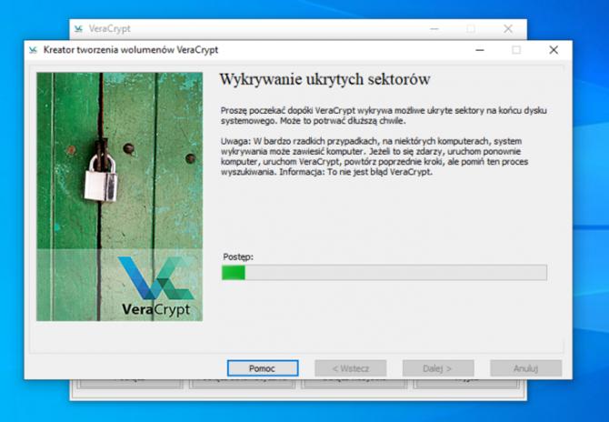 Szyfrowanie dysku z VeraCrypt: krok 7