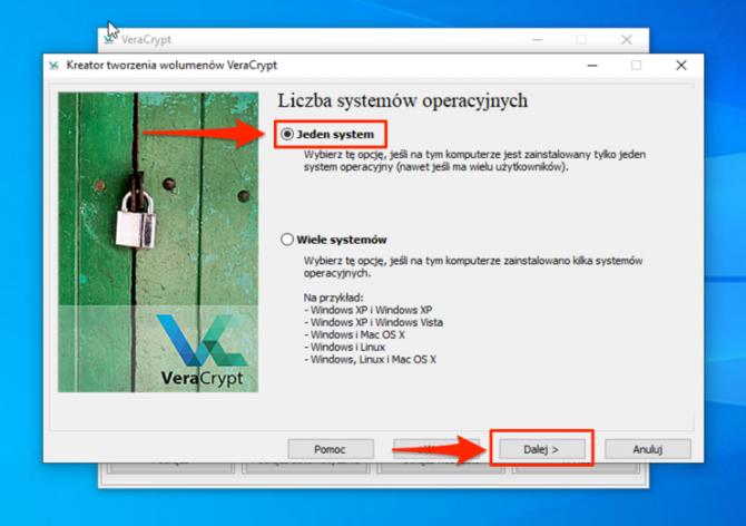 Szyfrowanie dysku z VeraCrypt: krok 8