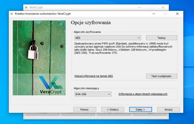 Szyfrowanie dysku z VeraCrypt: krok 9